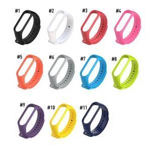 Colors Bracelet For Xiaomi Mi Band 3 Strap Watch Silicone Silicone Wrist Strap Wriststrap Bracelets Bracelet Accessories