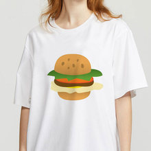 Фишки гамбургер фаст фудов женская футболка 90s эстетическое
