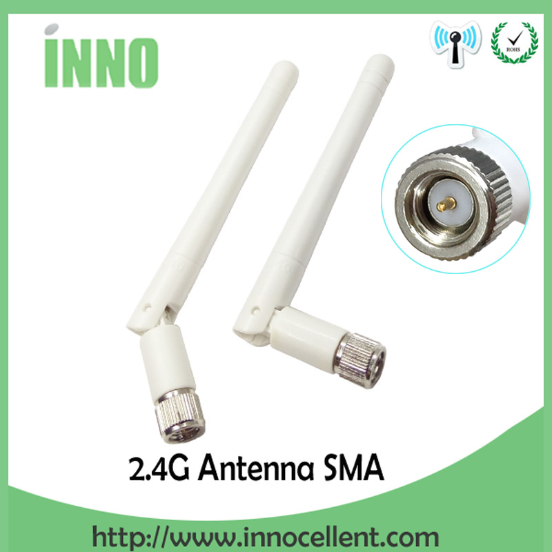2.4GHz WIFI Antenna 2~3dbi Aerial SMA Male Connector 2.4G Wi Fi Antena 2.4 Ghz Antenne Wi-fi White For Wireless Router Antenas