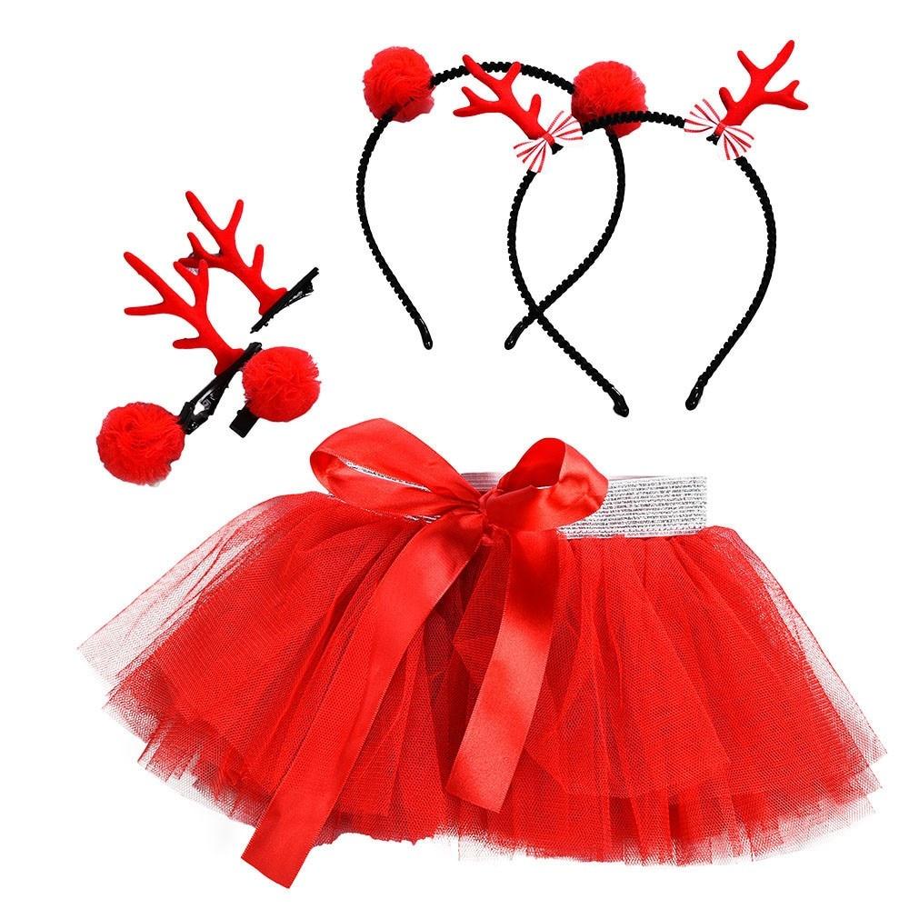 Hair Hoop Set Smart Baby Girls Christmas Tutu Ballet Skirts Fancy Party Skirt