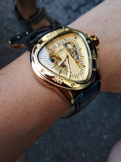 H6d0d684035e540b5acc3b1d476c97428q Winner Steampunk Fashion Triangle Golden Skeleton Movement Mysterious Men Automatic Mechanical Wrist Watches Top Brand Luxury