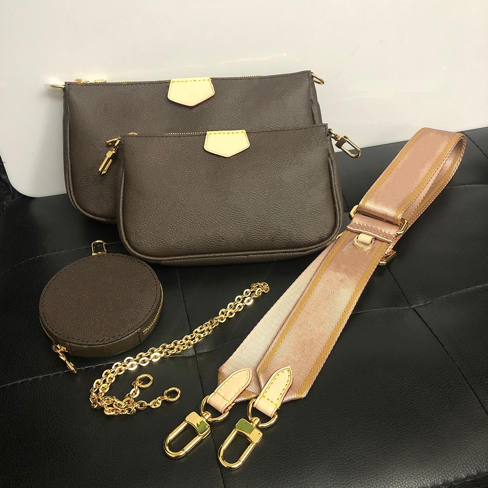 Women Set Bags 3Pcs Luxury Shoulder Bag Famous Brand 2019 New Three-Piece Mahjong Shoulder Bag Handbag Leather Shoulder Bags