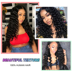 Image 5 - Perruque Lace Frontal Wig 360 péruvienne, cheveux humains Remy, Loose Wave, cheveux humains, 13x4/13x6, pour femmes africaines