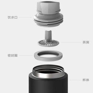 Image 3 - Xiaomi Mijiaถ้วย2สแตนเลสสูญญากาศ480Mlความจุถ้วยน้ำแบบพกพาฉนวนกันความร้อนล็อคเย็นยืดหยุ่นสวิทช์