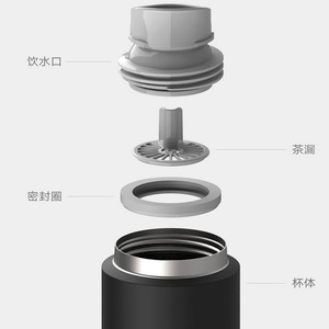Image 3 - Xiaomi Mijia Thermos Cup 2 Stainless Steel Vacuum 480ml Capacity Travel Portable Water Cup Insulation Lock Cold Elastic Switch