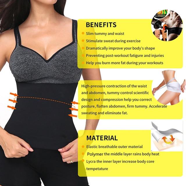 2020 Latest Waist Belt Waist Trainer Trimmer Belt Sauna Sweat Utility Belt for Sport Gym Fitness Running Tummy Slimming Belts 2