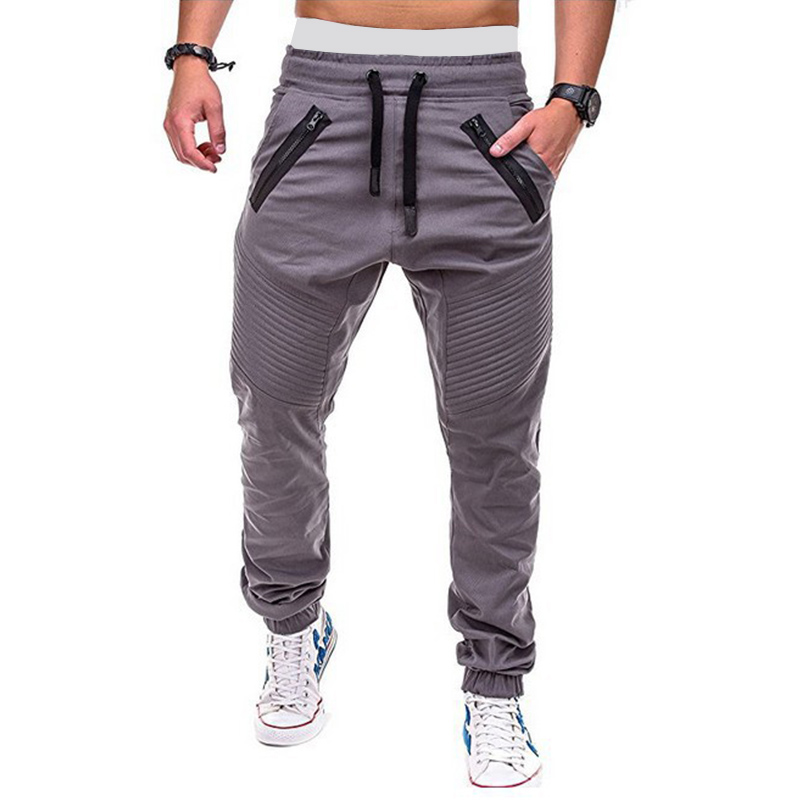 MRMT 2020 New Mens Baggy Trousers Casual Drawstring Elastic Men Pants Double Zipper Open-seat Man Trousers For Male