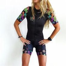 TRES PINAS-Conjunto de ropa de ciclismo para mujer, ropa de bicicleta de manga corta, para ciclismo de montaña
