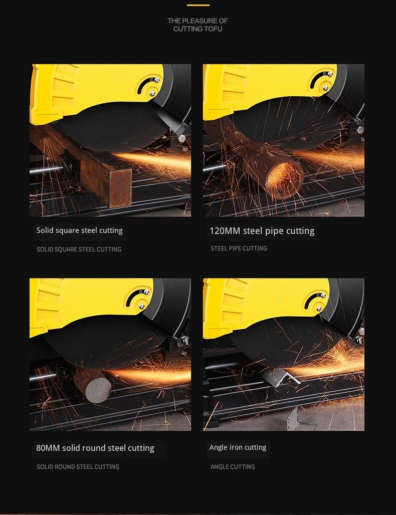 Schneiden maschine hause high power multi-funktion kleine metall profil holz edelstahl 45 grad stahl maschine