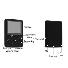 1.8 Inch Color Screen Ultrathin MP4 Player Support 32G TF Card Portable HiFi Music OUJ99