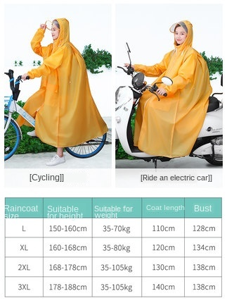 Long Transparent Raincoat Electric Motorcycle Raincoat Adult Long Coat Women Thickening Increase Rain Poncho Coat Hiking Gift 5