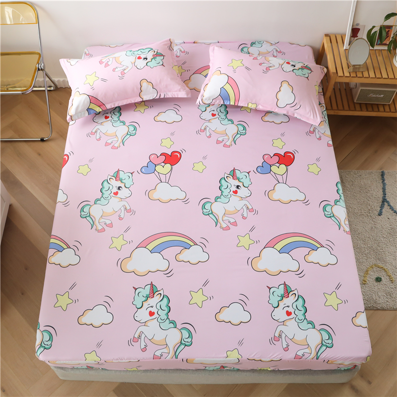 Bonenjoy 3 pcs Sheet on Rubber Band Kids Bed Sheet Cartoon Cars Printed Fitted Sheet for Boy Single Fitted Bed Sheet 17