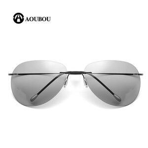 Image 2 - Photochromic night vision goggles oculos de grau masculino Frameless gafas hombre kingseven gunes gozlugu lentes de sol hombre8G