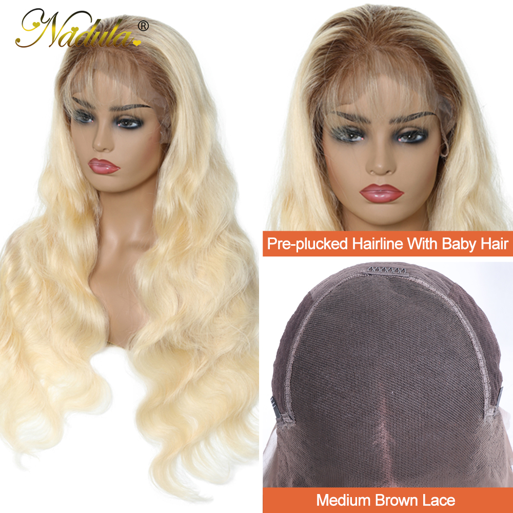 Nadula  Wigs 150% Density Ombre Blonde Pre-Plucked Lace Front Wig 13x4/13x6 /360 Lace Frontal Wig T4/613 Color 5