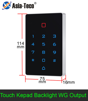 Backlight Touch 125khz RFID Card Access Control keypad EM card reader Door Lock opener wiegand 26 output Anti-disassembly Alarm цена 2017