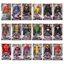 12 avengers//30cm marvel vingadores veneno batman flash superman spiderman thanos hulk homem de ferro thor groot figuras de ação brinquedo para presentes do miúdo
