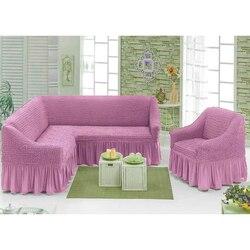 Evrochehol sofa ecke mit rock/krause mit stuhl oder ohne