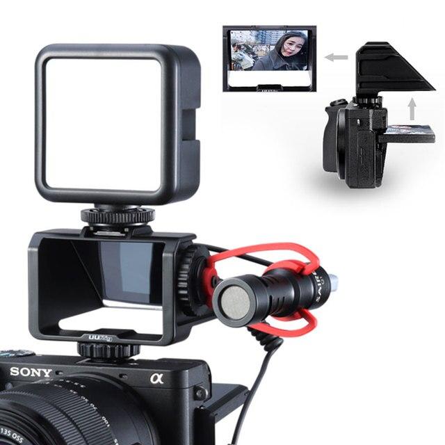 UURig Vlog Macchina Fotografica Dello Schermo di Vibrazione Staffa Per Selfie Mirrorless Camera Periscopio Soluzione Per Sony A6500/6300/A7M3 A7R3 nikon Z6/Z7