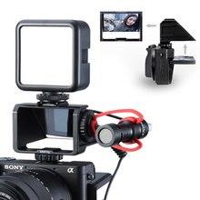 Uurig Vlog Camera Màn Hình Lật Chân Đế Cho Selfie Máy Ảnh Không Gương Lật Kính Tiềm Vọng Giải Pháp Cho Sony A6500/6300/A7M3 A7R3 nikon Z6/Z7
