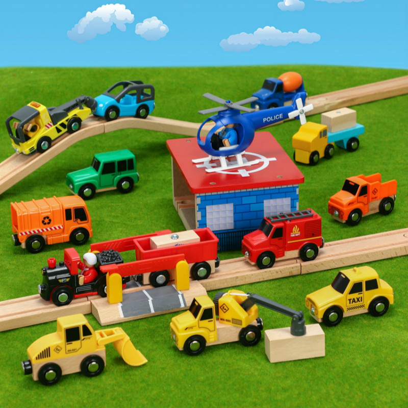 Wood Magnetic Train Plane Wood Railway Track Car Truck Accessories Toy For Kids Fit Wood Thoma S Biro Tracks Gifts