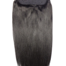 Human-Hair-Extensions 5-Clips Brazilian Straight in Natural-Black Remy-Hair 1pcs-Set