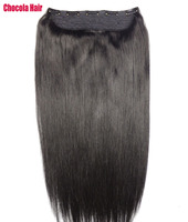 Chocala Hair 16 28 Machine Made Remy Hair 1pcs set 180g Natural Brazilian Straight Hair pieces Clip In Human Hair Extensions
