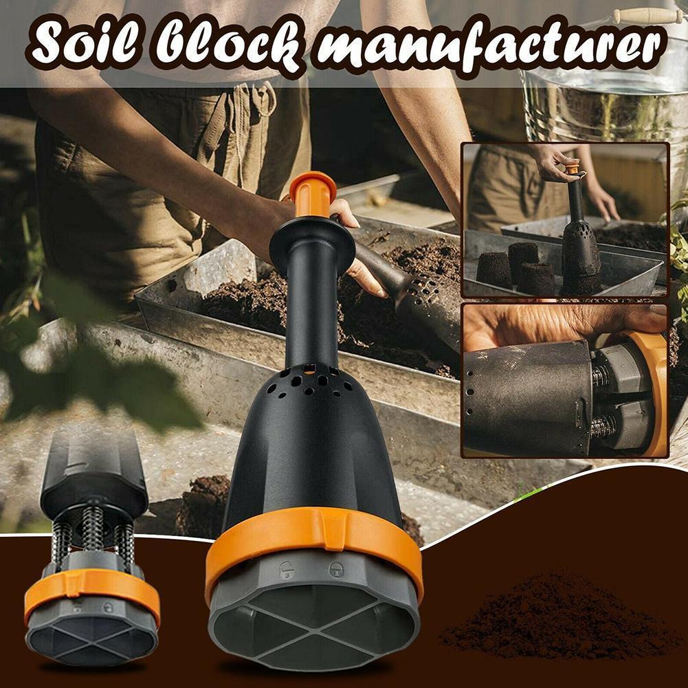 Manual Soil Block Maker Manual Pot Soil Blocker Soil Blocking Tool Create Soil Block Seedlings Greenhouse Garden Accessories