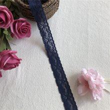 Fait main bricolage 2.5cm S1340artisanat accessoires broderie dentelle tissus rideaux canapé couture dentelle blanche garniture