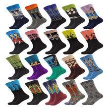 Весенне летние женские и мужские носки в стиле ренессанс с изображением