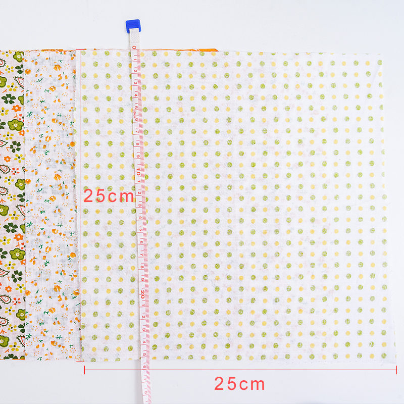 H6d0f50f4d78841e48ee51c30505b26d0o 25x25cm and 10x10cm Cotton Fabric Printed Cloth Sewing Quilting Fabrics for Patchwork Needlework DIY Handmade Accessories T7866