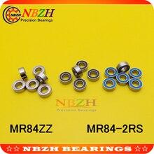 NBZH цена продажи 10 шт. MR84ZZ MR84-2RS SMR84ZZ SMR84-2RS 4X8X3 мм Глубокие шаровые подшипники MR84/L-840 ZZ MR84 RS MR84-2RS