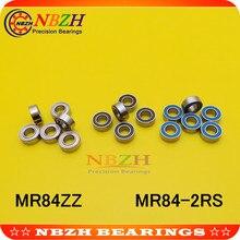 Nbzh preço de venda, 10 peças mr84zz MR84-2RS smr84zz SMR84-2RS 4x8x3mm rolamentos de esferas profundos mr84/L-840 zz mr84 rs MR84-2RS