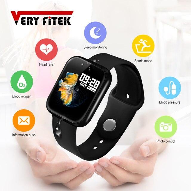 2019 Men Women Waterproof T80 Smart Watch Bluetooth Smartwatch Heart Rate Monitor Fitness Tracker pk P70 P68 Plus P80 B57
