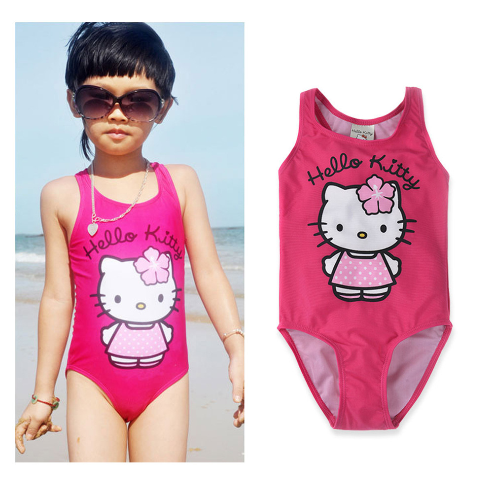 Micro For 2019 Europe And America Summer New Style GIRL'S Swimsuit Cartoon Children Onesie Tour Bathing Suit CHILDREN'S Swimsuit
