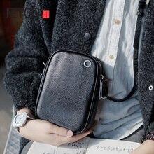 AETOO Handmade cowhide retro Oblique cross bag, leather casual shoulder bag, mobile phone bag female male headphone bag шха 100 40