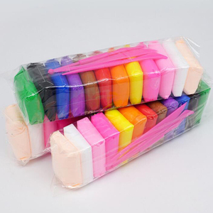 Высокое качество 36 цветов сухой на воздухе супер светильник Полимерная глина Дети раннего образования игрушки Сделай Сам цветные глиняные слипы пластилин