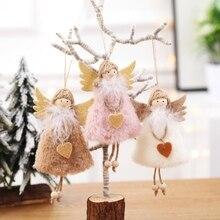 1PC Cute Angel Doll Christmas Decoration Pendant Kawaii Tree Hanging Ornament For Home Xmas