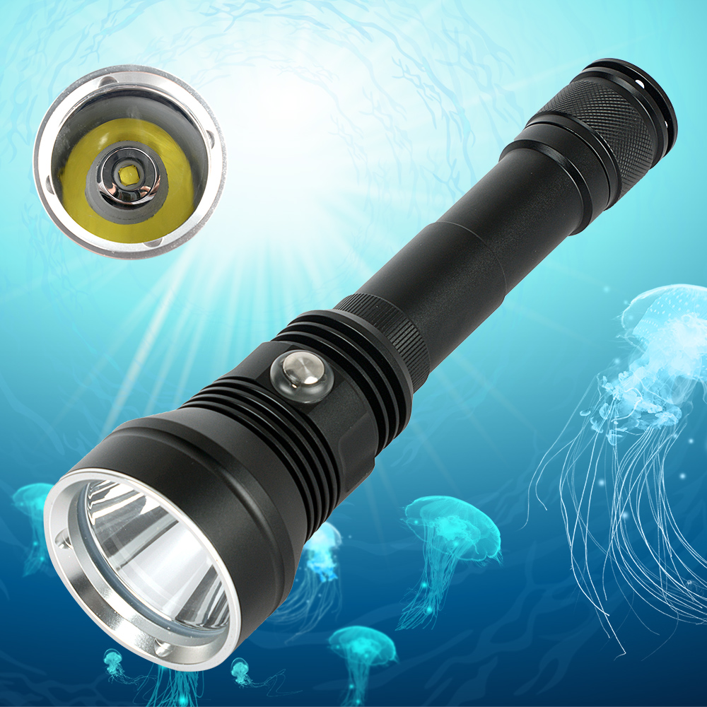 IP8 Waterproof  XHP70.2 Professional Powerful Diving Flashlight White/Yellow Lighting Underwater 200M Scuba Dive Torch for Dive