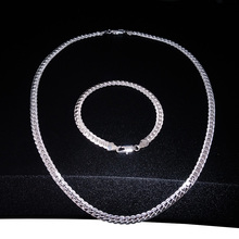 цена на Fashion Trendy Gifts for Men Silvery Gold Chain Necklace Bracelets Luxuries Jewelry Set 2020 New Style