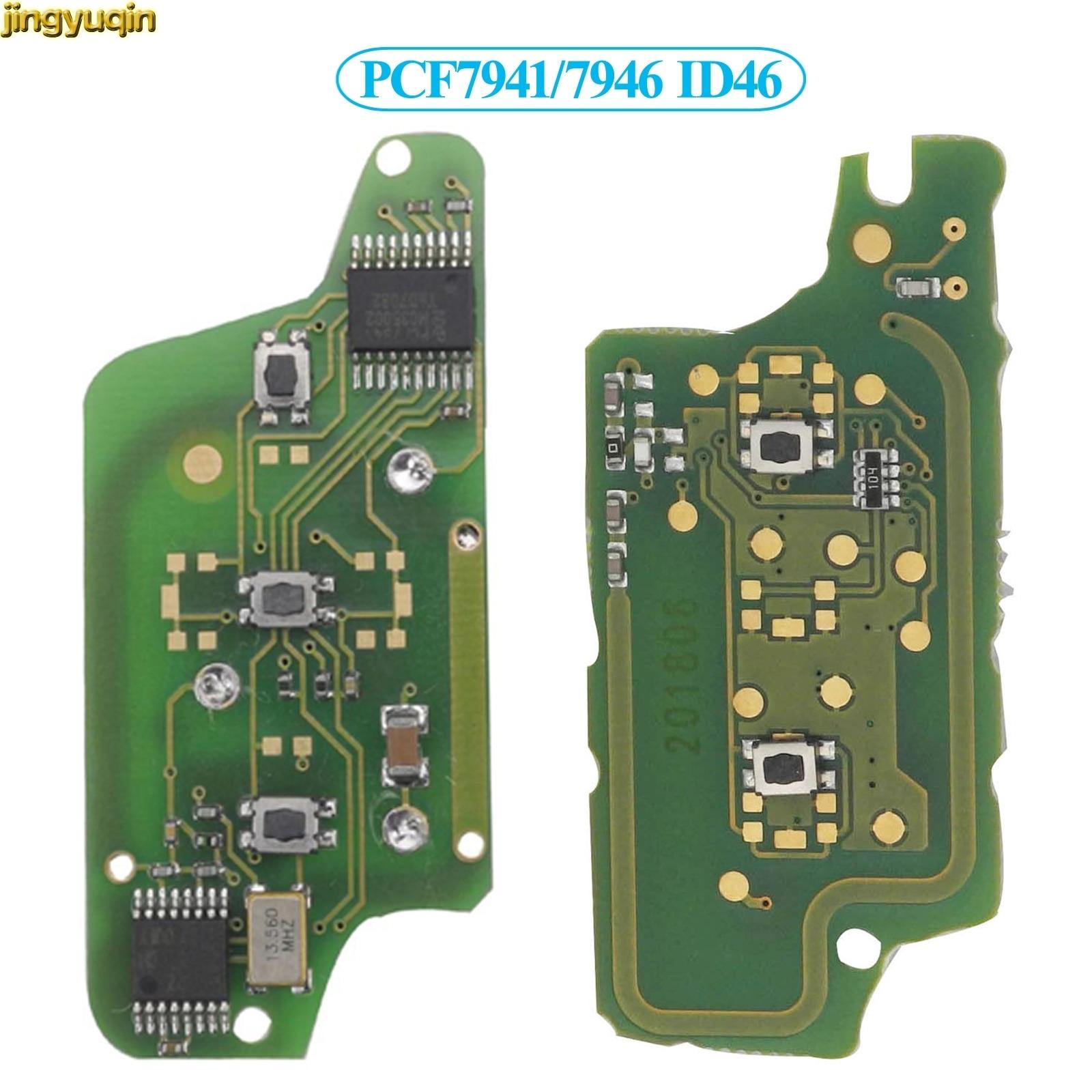 Jingyuqin 10px remoto/FSK llave de coche junta para Peugeot 207, 307, 407, 607, 807 Citroen C2 C3 C4 C5 C6 PCF7941/7946 ID46 CE0523/0536