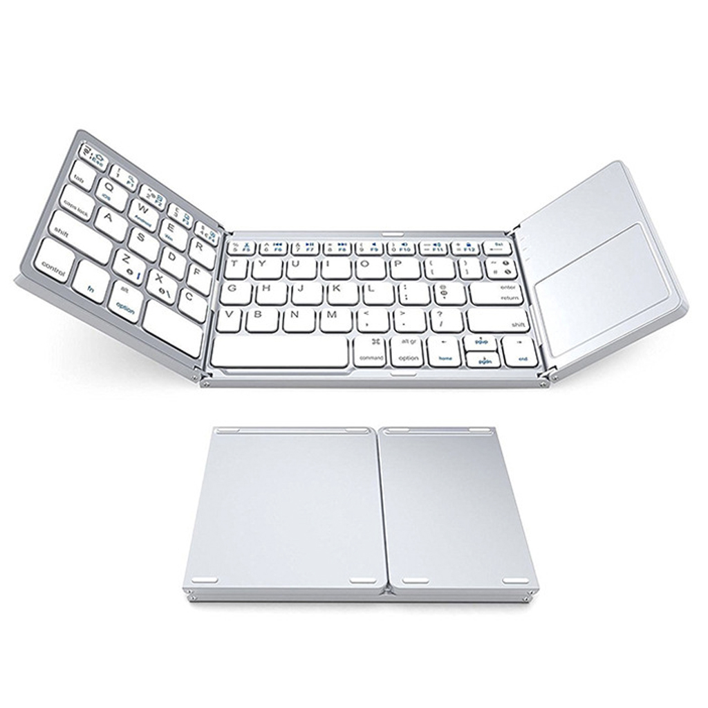 B033 Portable Folding Wireless Keyboard Bluetooth Rechargeable BT Touchpad Keypad For IOS Android Windows Ipad Tablet in Keyboards from Computer Office