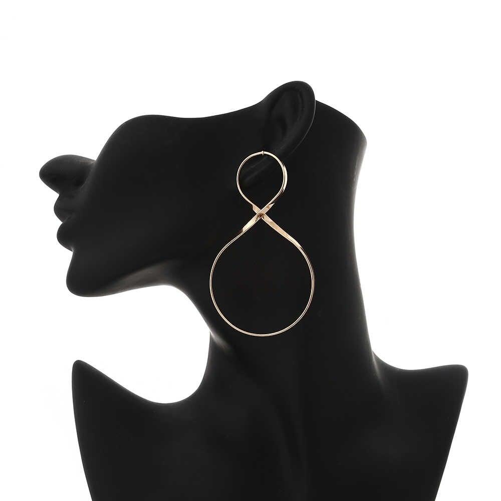 Grande geométrica brincos do parafuso prisioneiro do vintage para as mulheres brincos 2019 na moda brincos de jóias de moda por atacado