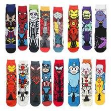 Nova série de anime marvel spiderman imprimir mulher homem meias longas mans joelho-alta cosplay meia de bezerro adulto hip hop personalidade meias
