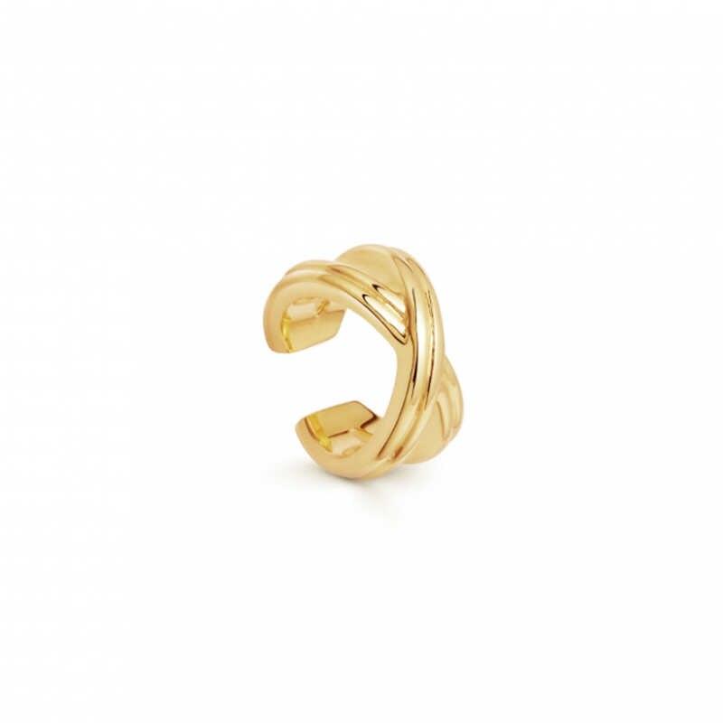 PUNK Gold โลหะหูกระดูกอ่อนหูคลิปสำหรับสตรีไม่มีเจาะ C รูปทรงเรขาคณิตขนาดเล็ก Earcuff หูห่อ Earcuff คลิปเครื่องประดับ