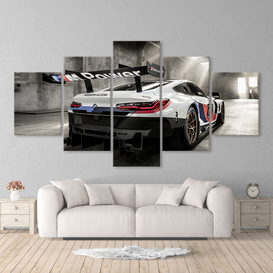 Retro Bmw M3 Red Sport Car Paintings Wall Art Pictures Canvas Poster Gift For