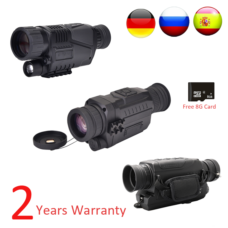 Image 3 - WG540 Infrared Digital Night Vision Monoculars with 8G TF card full dark 5X40 200M range Hunting Monocular Night Vision Optics-in Monocular/Binoculars from Sports & Entertainment on