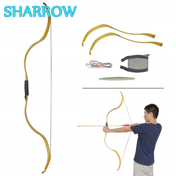 Archery Traditional Bow 25lbs Takedown Recurve Bow Right Hand Shooting Bow For Ooutdoor Training Practice Hunting Accessories