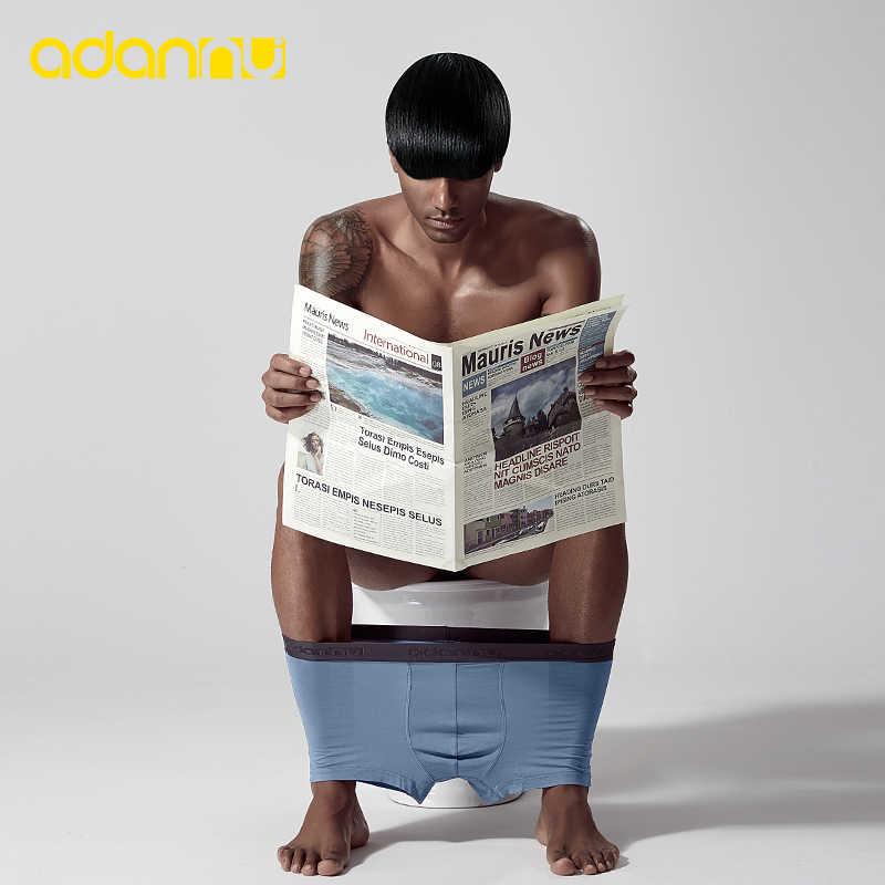 ADANNU markowa bielizna męska bokserki modalne oddychające wygodne kalesony męskie majtki Cueca Tanga mężczyźni bokserki Calzoncillo