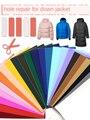 T-N пуховая хлопковая куртка самоклеющиеся наклейки-заплатки ПВХ водонепроницаемый материал можно стирать аппликации для ремонта куртки