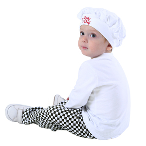 Image 2 - Baby Chef Costume Set Infant Halloween Fancy Dress Outfit Toddler Cosplay Pilot Skeleton Pumkin Carnival Party Clothes 3PCS